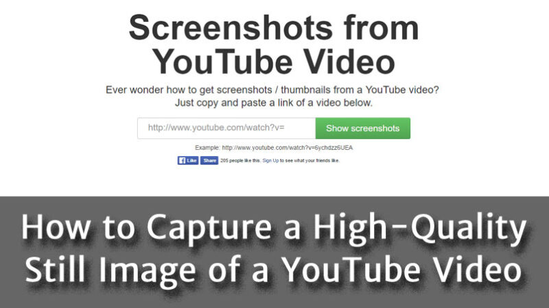 How to Capture a High-Quality Still Image of a YouTube Video