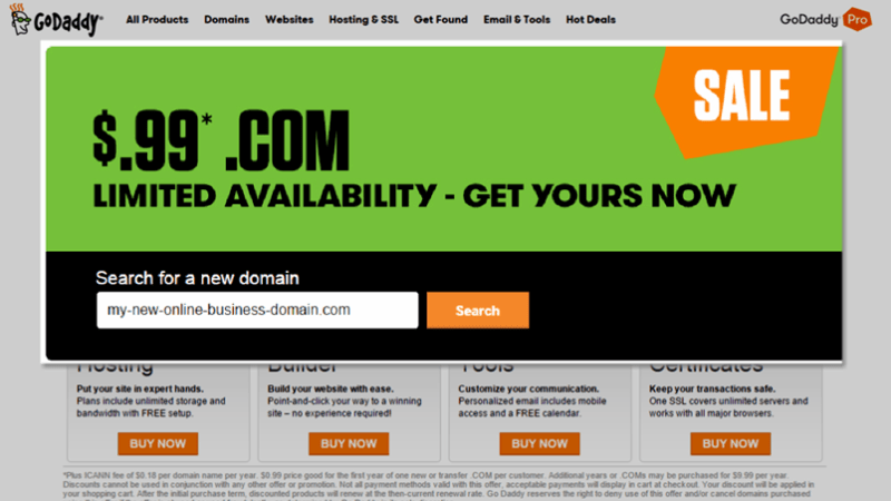 The Simple Trick to Get Unlimited $1 17 Domain Names from GoDaddy