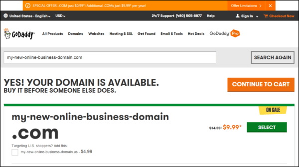 godaddy-yes-domain-available